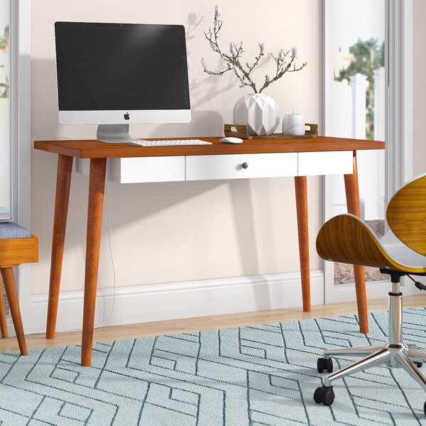Gretchen Pull-out Storage Drawer Writing Desk by Langley Street