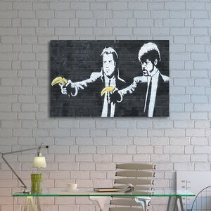 'Vincent and Jules' by Banksy Painting Print on Wrapped Canvas by Pingo World