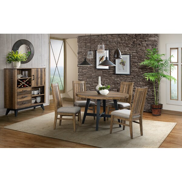 Laguna 5 Piece Solid Wood Dining Set by Union Rustic