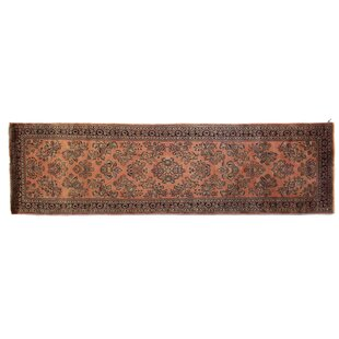 Best One-of-a-Kind Fine Indo Hand-Woven Wool Rust/Black Area Rug ByExquisite Rugs