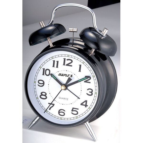 4 Double Bell Alarm Clock by Wrought Studio