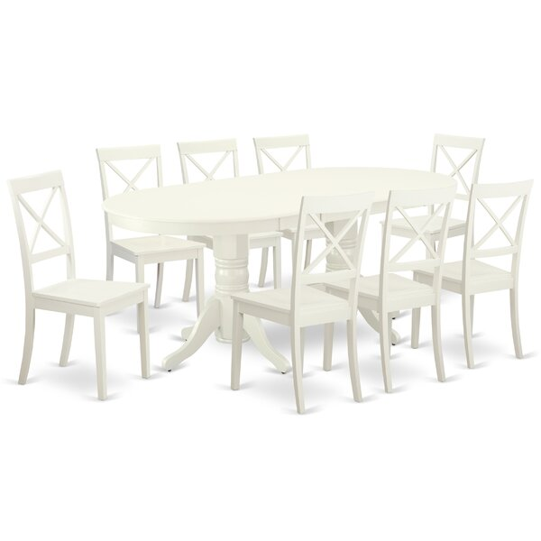 Wolbert 9 Piece Extendable Solid Wood Dining Set By August Grove