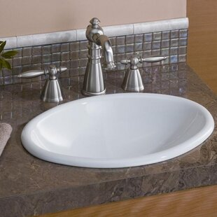 Check Prices Mini Vitreous China Oval Drop-In Bathroom Sink ByCheviot Products