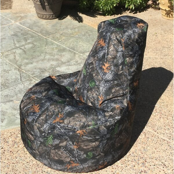 Camo Indoor/Outdoor Bean Bag Chair by Loon Peak