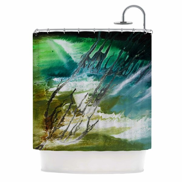 Ocean Majestic by Steve Dix Shower Curtain by East Urban Home