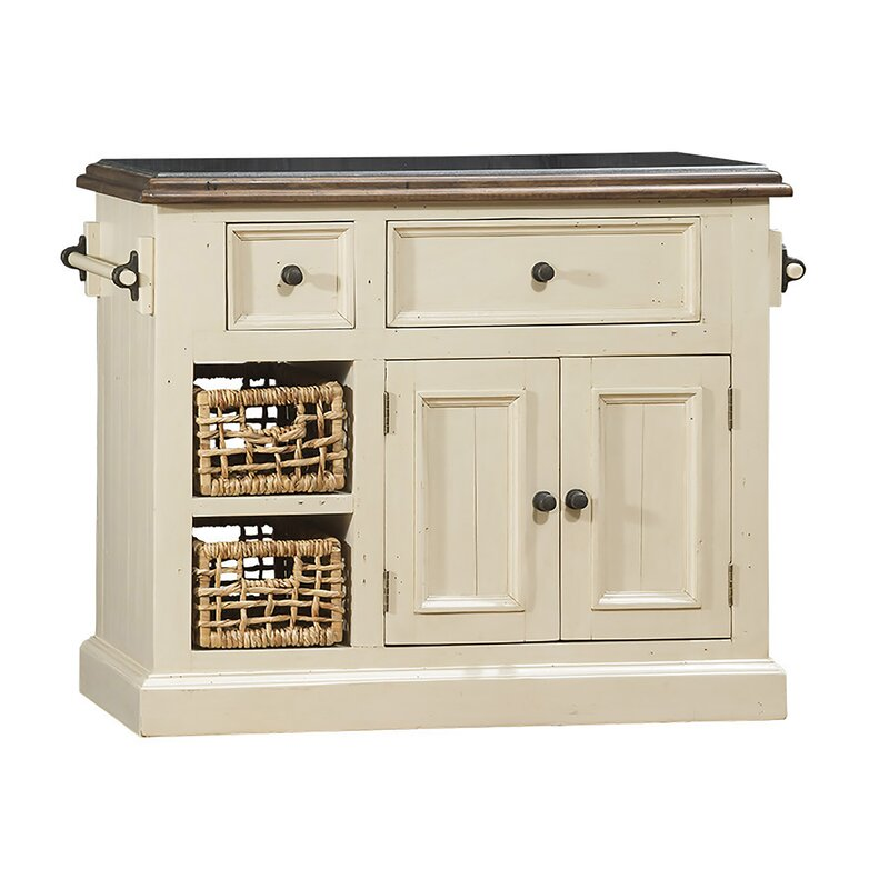 Zula Kitchen Island with Granite Top