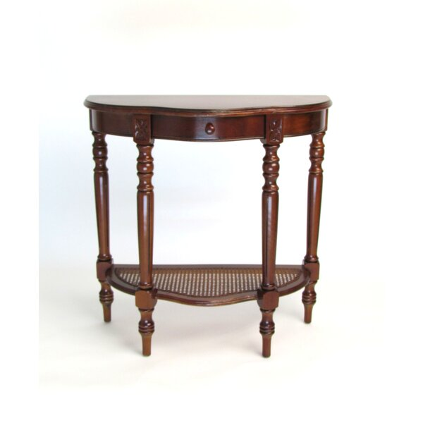 Leeroy Demilune Console Table by Charlton Home Charlton Home