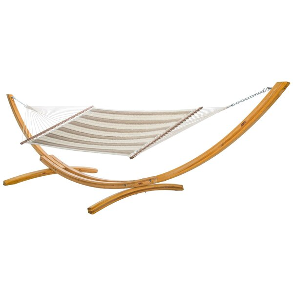 Octavio Quilted Double Tree Hammock with Stand by Longshore Tides