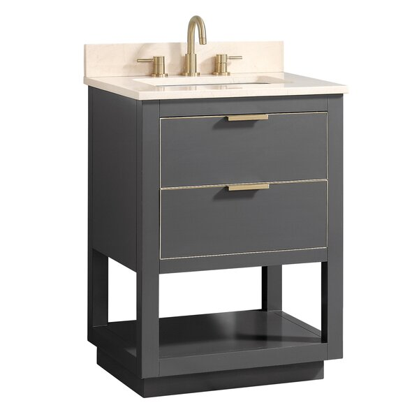 Fincher 24 Single Bathroom Vanity Set by Everly Quinn