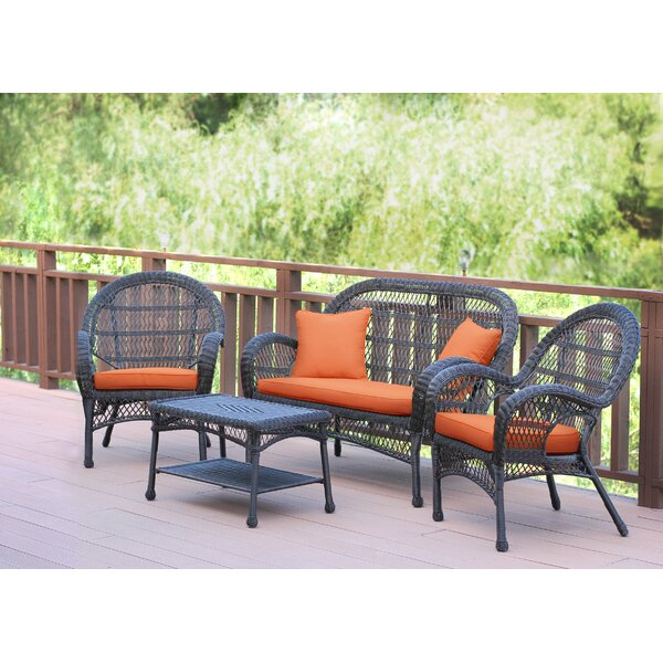 Mangum 4 Piece Sofa Set with Cushions by August Grove