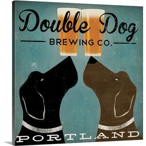 'Double Dog Brewing Co' by Ryan Fowler Vintage Advertisement on Wrapped Canvas by Great Big Canvas