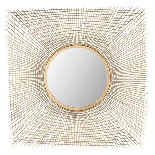 Brayden Studio Gold Iron Accent Wall Mirror