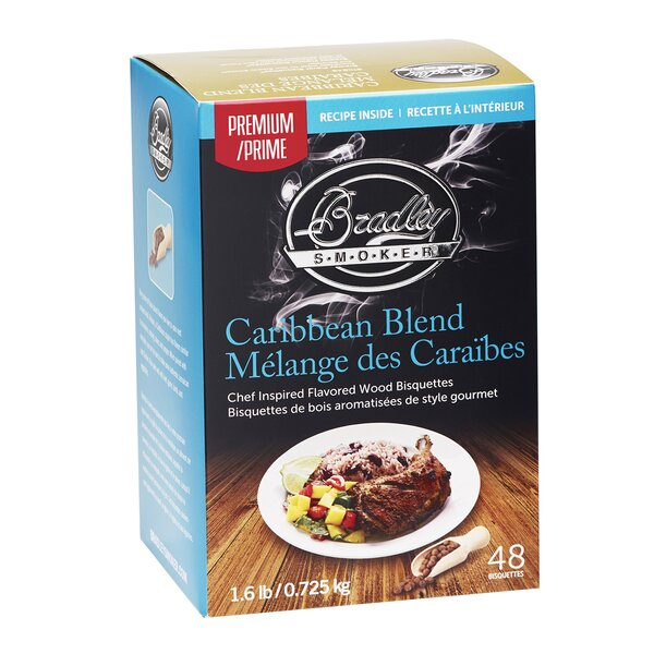 Premium Caribbean Blend Bisquettes (Set of 48) by Bradley Smoker