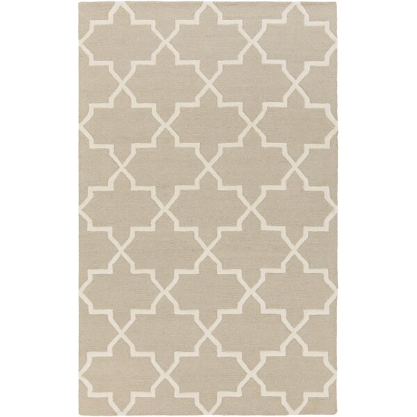 Blaisdell Keely Hand-Tufted Wool Beige Area Rug by Charlton Home