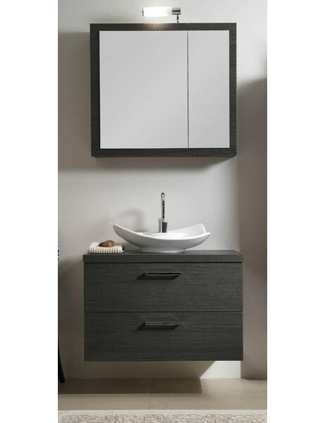 Aurora 31 Single A15 Bathroom Vanity Set with Mirror by Iotti by Nameeks