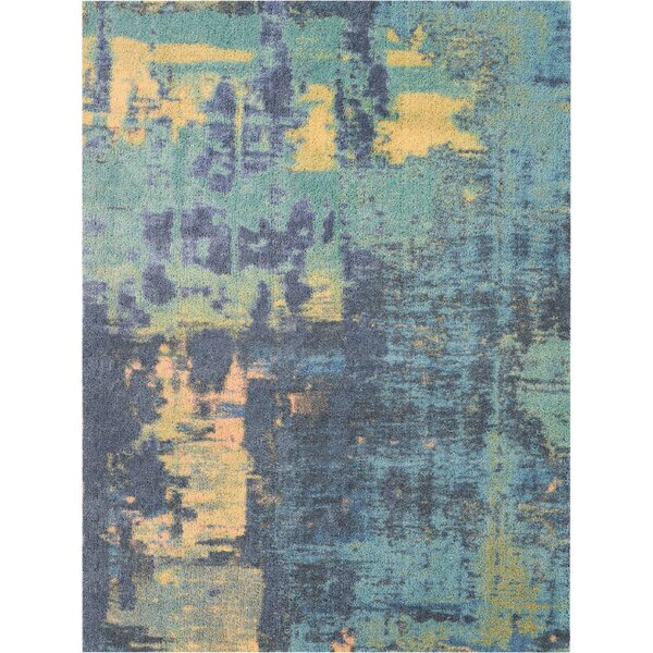 Carnkirk Hand-Tufted Green/Blue/Gold Area Rug by Ivy Bronx