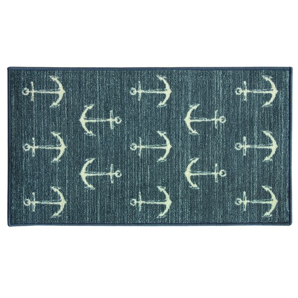 Elianna Ahoy Blue Area Rug by Highland Dunes