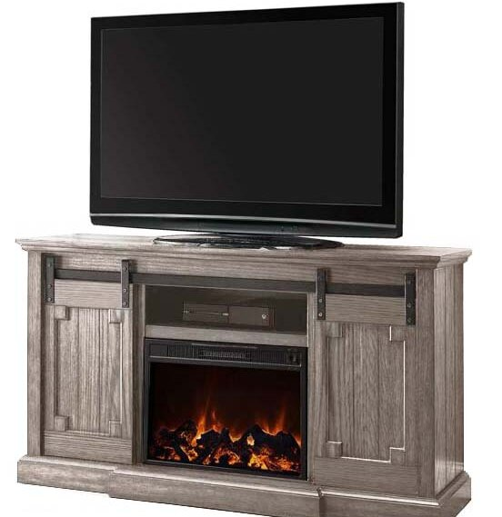 Clayton TV Stand with Electric Fireplace by Gracie Oaks