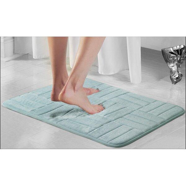 Beasley Parquete Rectangle Non-Slip Plaid Bath Rug