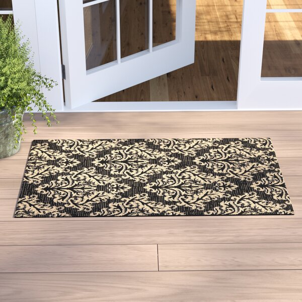 Larson Black/Cream Indoor/Outdoor Area Rug by Sol 72 Outdoor