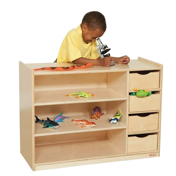 3 Compartment Shelving Unit by Wood Designs