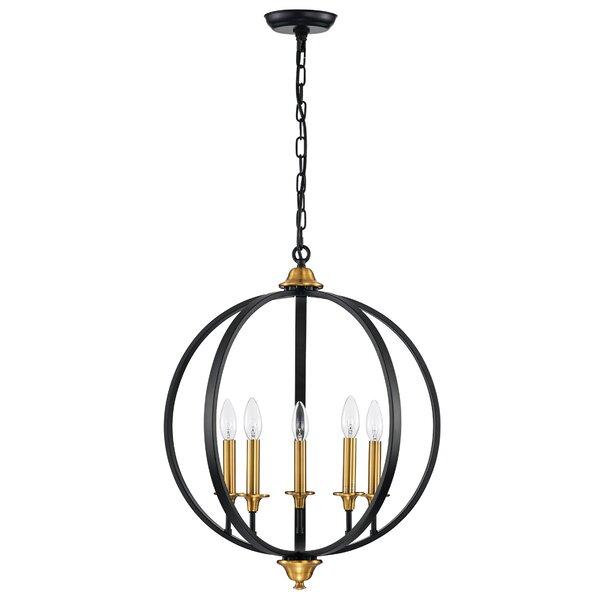 Heinz 5-Light Candle Style Globe Chandelier by Gracie Oaks Gracie Oaks