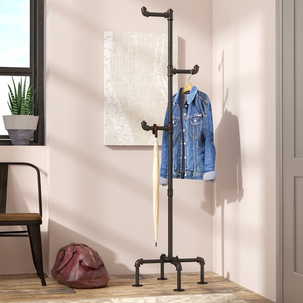 Maegan Industrial Coat Rack by Williston Forge
