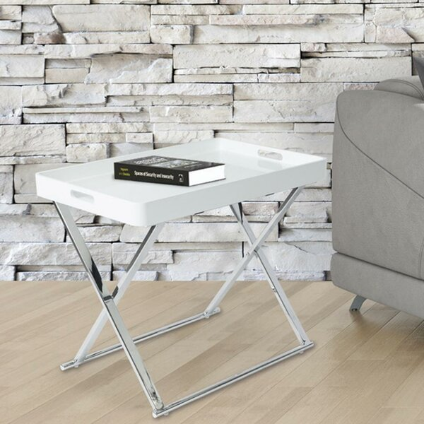 Jacki Folding Tray Table by Everly Quinn