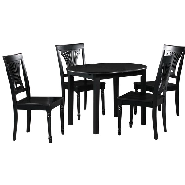 Spillers 5 Piece Extendable Solid Wood Dining Set by Winston Porter Winston Porter