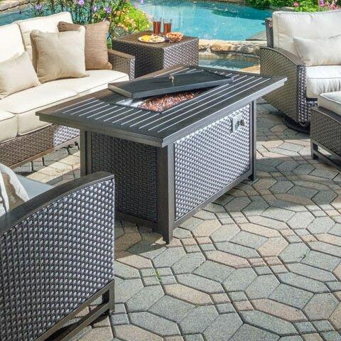 La Lima Aluminum Propane Fire Pit Table by Alfresco Home