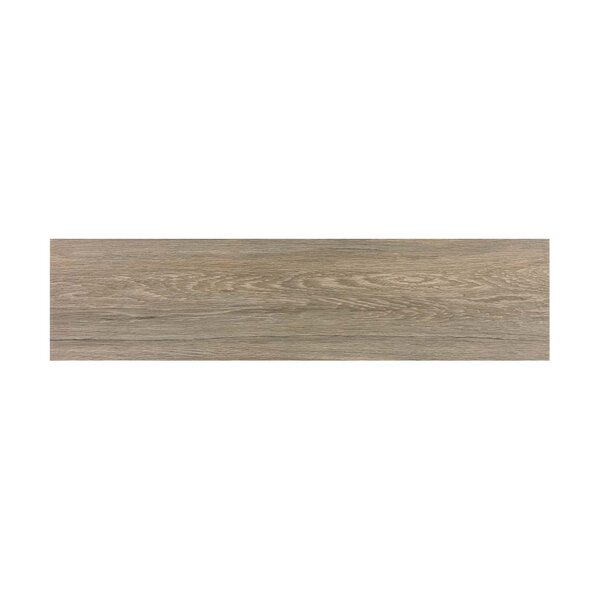 Vanderbilt 6 x 24 Porcelain Wood Look Tile in Brown by Parvatile