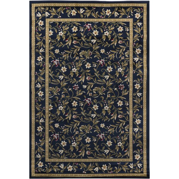 Cypres Blue Floral Area Rug by August Grove