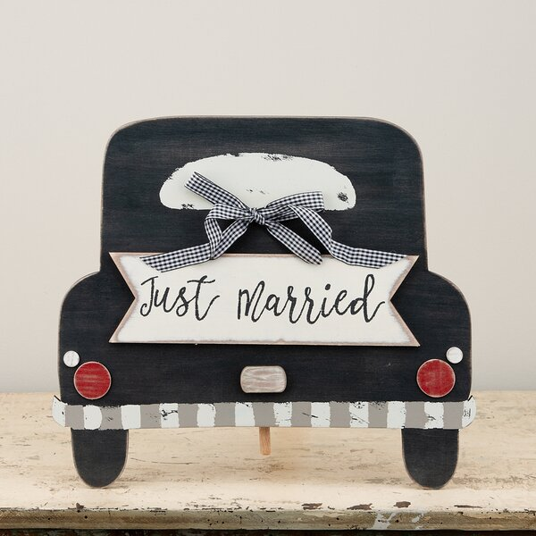 Just Married Cake Topper by Glory Haus