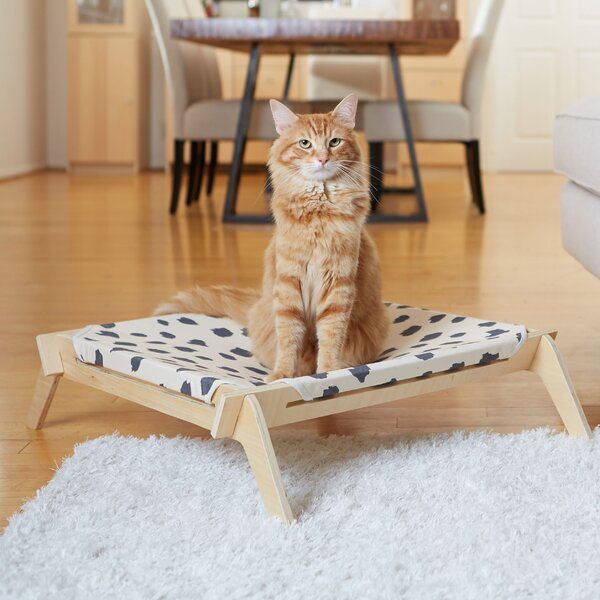 Spots Crosses Designer Pet Lounge Cot with Reversi