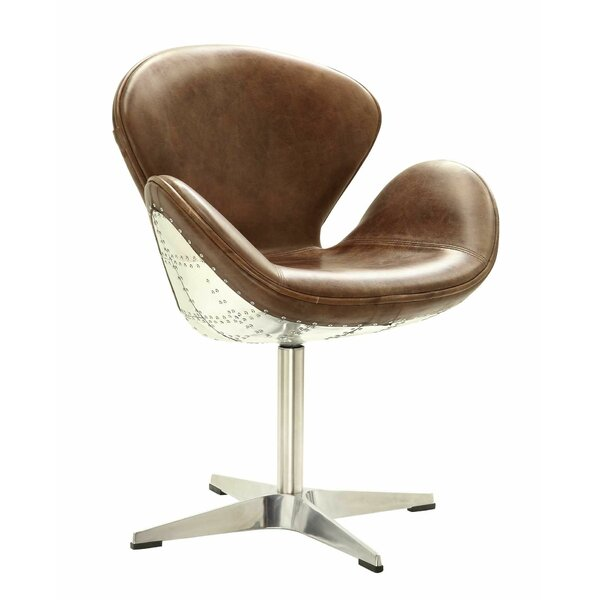 Howard Retro Aluminum Swivel Side Chair