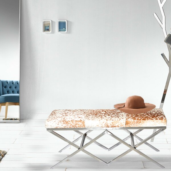 Hide Metal Bench by Fashion N You by Horizon Interseas