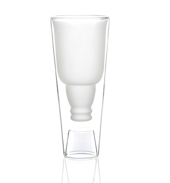 Porona-Catron 18 oz. Frosted Double Wall Glass (Set of 2) by Highwave Inc.