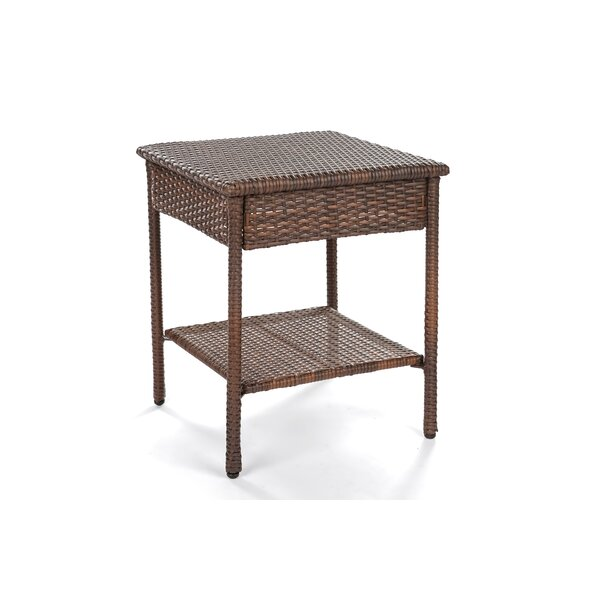 Dendy Wicker Side Table by Highland Dunes Highland Dunes