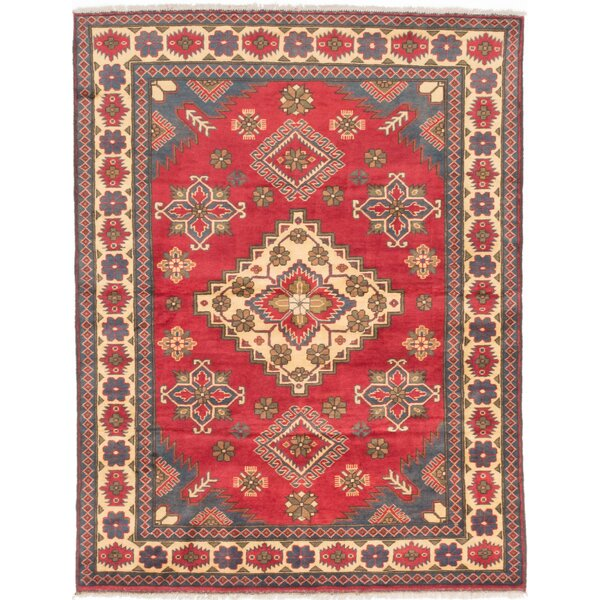 One-of-a-Kind Bunkerville Hand-Knotted Red/Beige Area Rug by World Menagerie