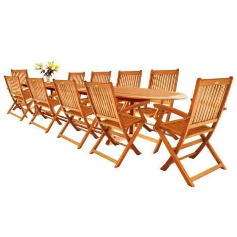 Cadsden 11 Piece Extendable Patio Set by Three Posts