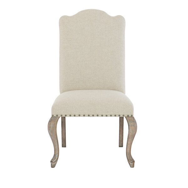 Compania Upholstered Side Chair in Beige (Set of 2) by Bernhardt Bernhardt