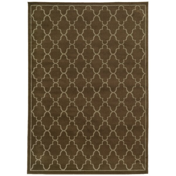 Delshire Lattice Brown/Beige Area Rug by Charlton Home