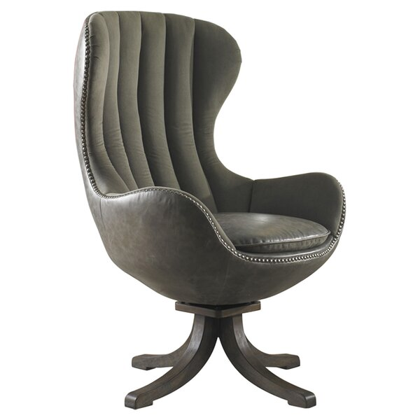 Stamford Swivel Wingback Chair by Everly Quinn Everly Quinn