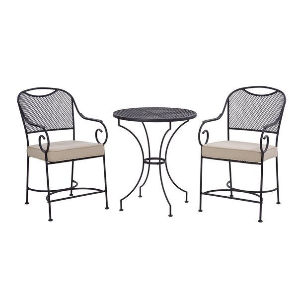 Birkdale 3 Piece Bar Height Dining Set with Cushions by Liberty Garden Patio Liberty Garden Patio