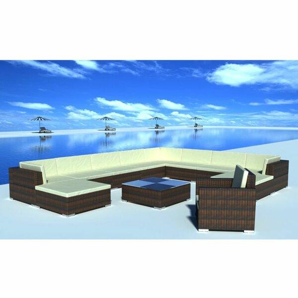 Rosemond Garden 35 Piece Rattan Sofa Seating Group with Cushions by Orren Ellis
