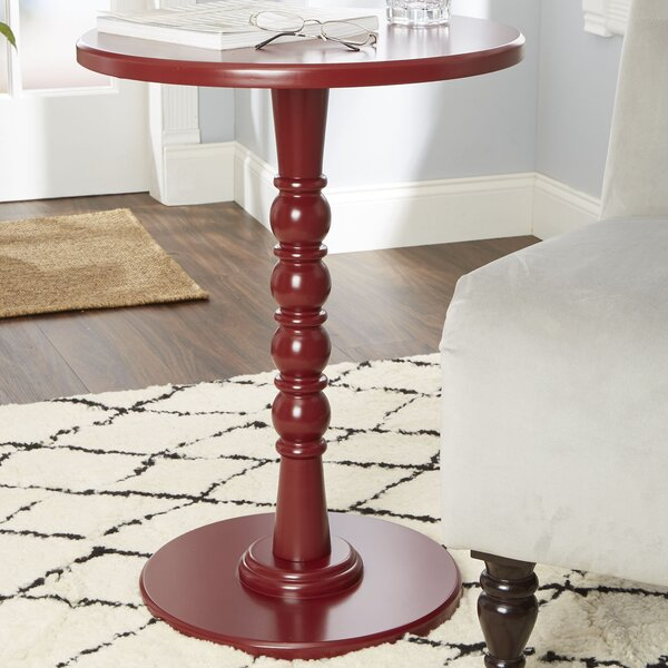 Jones Turned Pedestal End Table by Charlton Home
