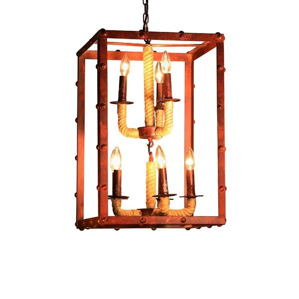 Litteral 8 - Light Lantern Rectangle Chandelier by Breakwater Bay Breakwater Bay