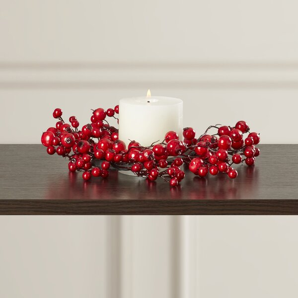 Faux Berry Candle Ring by The Holiday Aisle