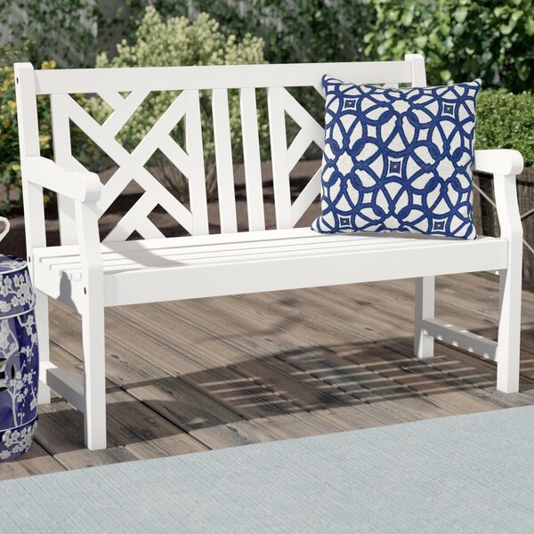 Monterry Wood Garden Bench by Beachcrest Home