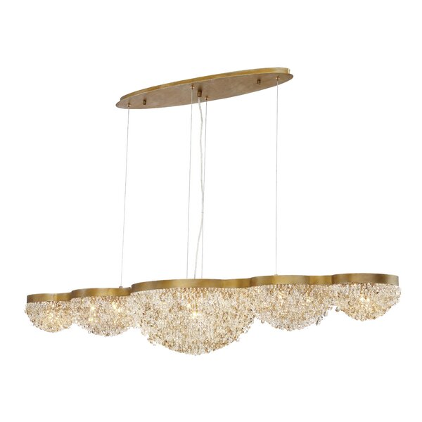 Shirely 15 - Light Unique / Statement Geometric Chandelier By Everly Quinn